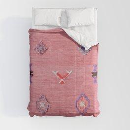Pink Oriental Traditional Boho Moroccan Style Design Artwork Comforters