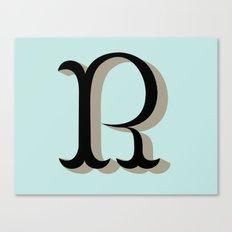 R Letter Canvas Print
