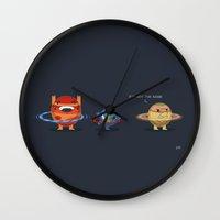 saturn Wall Clocks featuring Saturn by Eric Montag