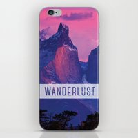 wanderlust iPhone & iPod Skins featuring Wanderlust by snaticky