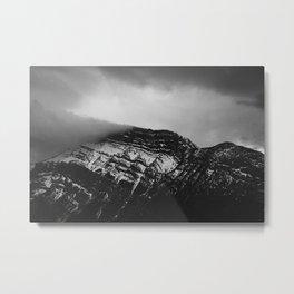 Moody mountains, Banff, AB. Metal Print
