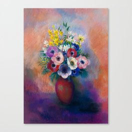 "Odilon Redon ""Anemones (Vase d'anémones)"" Canvas Print"