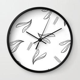 minimal botanical pattern Wall Clock