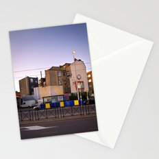 sunset urban view with nice houses from Brussels Belgium Stationery Cards