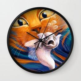 Underwater scream Wall Clock