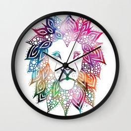 Rainbow Leo Wall Clock