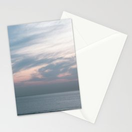 Pastel sky above the sea | Soft clouds at sunset | Fine art travel photography Stationery Cards