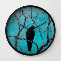 aqua Wall Clocks featuring Aqua by The Strange Days Of Gothicrow