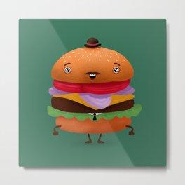 Business Burger Metal Print