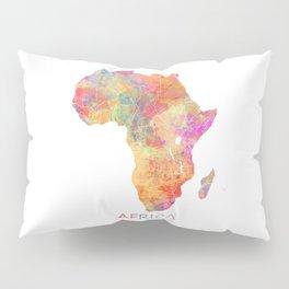 Africa map 2 Pillow Sham