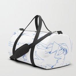 Ladies Pattern Blue Duffle Bag