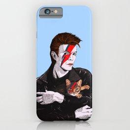 David & The cat iPhone Case