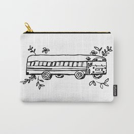 School Bus Illustration Skoolie Tiny Home Van Life Carry-All Pouch