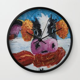 Wis-cow-sin Winter Wall Clock