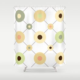 Circles and Wires Shower Curtain