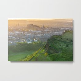 Edinburgh Castle On A Summer Evening Metal Print