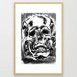 Simple skull day Framed Art Print