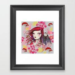 Red Owl Framed Art Print