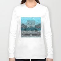 paris Long Sleeve T-shirts featuring Paris by Bekim ART