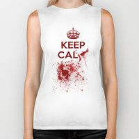 keep calm Biker Tanks featuring Keep calm? by Eveline