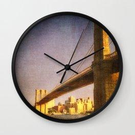 Sun Sets on Brooklyn Wall Clock