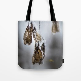 Frost Crytals Tote Bag