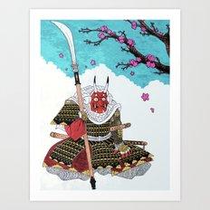 Demon Samurai Art Print