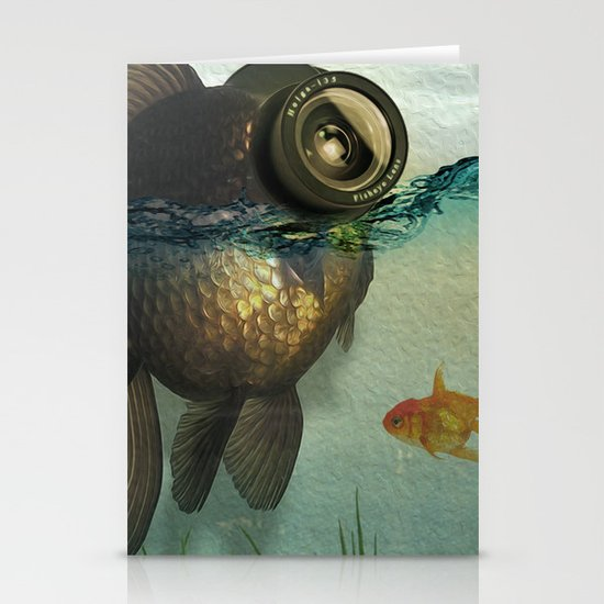 Fish eye lens Stationery Cards