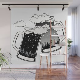 Cheers from Dark to Light Wall Mural