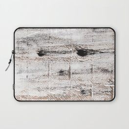 Ghost white abstract watercolor Laptop Sleeve
