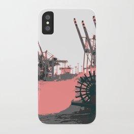 paddle wheel in hamburg iPhone Case