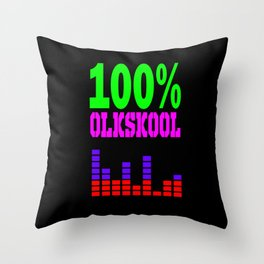 100% oldskool Throw Pillow