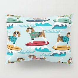 Beagle surfing pattern cute pet gifts dog lovers beagles Pillow Sham