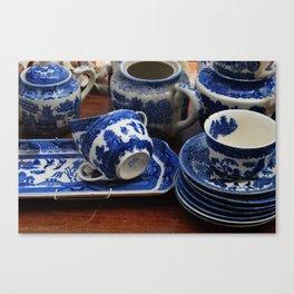 Blue cups Canvas Print
