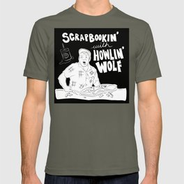 Scrapbooking with Howling Wolf T-shirt
