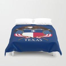 Texas flag and eagle crest - original concept and design by BruceStanfieldArtist Duvet Cover