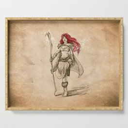 Freya the Shaman Sketch from Nordic Warriors Serving Tray