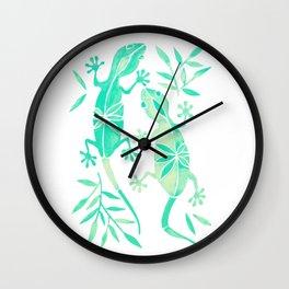Geckos – Mint Palette Wall Clock