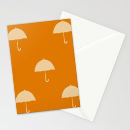 Orange  umbrellas Stationery Cards