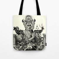 pagan Tote Bags featuring PAGAN WICCAN II by DIVIDUS DESIGN STUDIO