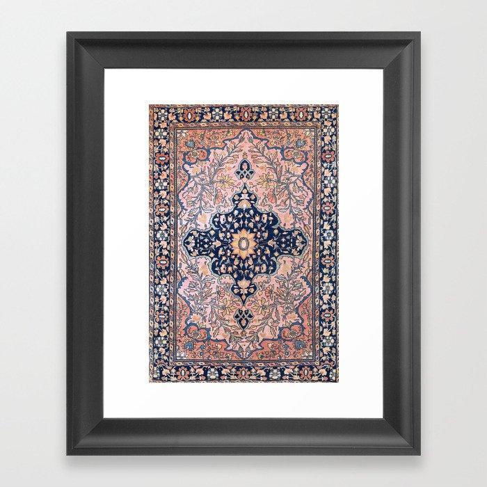 Sarouk  Antique West Persian Rug Print Gerahmter Kunstdruck