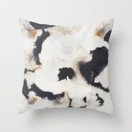 Ink and coffee Throw Pillow