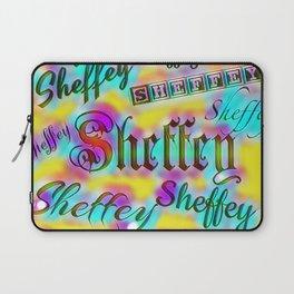 Sheffey Fonts - Yellow and Pink Rainbow 9642 Laptop Sleeve