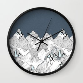 At night in the mountains Wall Clock