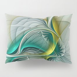 Fractal Evolution, Abstract Art Graphic Pillow Sham