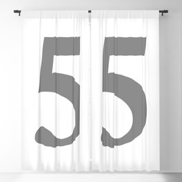 5 (GRAY & WHITE NUMBERS) Blackout Curtain