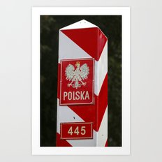 Frontier between Poland and Germany Art Print