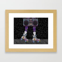 moon skating Framed Art Print
