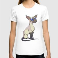 western T-shirts featuring Western Siamese by Suzanne Annaars