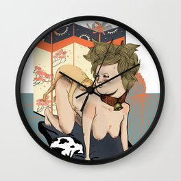 position of the cow Wall Clock